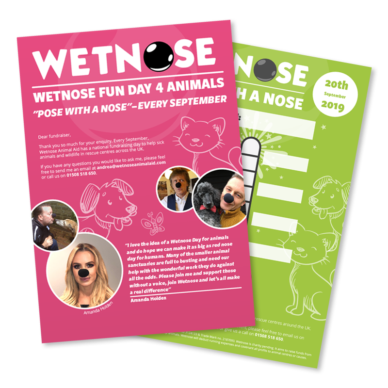 Wetnose Day Fundraising Pack - poster and totaliser